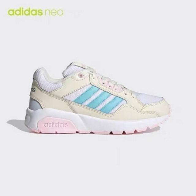 【adidas 愛迪達】RUN9TIS 女款米藍糖果色運動休閒鞋-NO.FZ1459