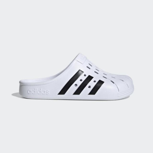 【adidas 愛迪達】男女款白色防水洞洞拖鞋-NO.FY8970