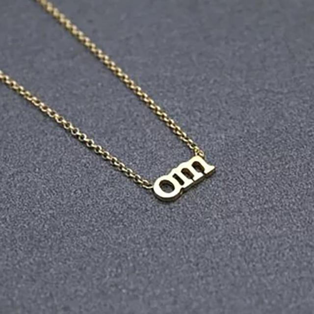 【Dogeared】OM字母金項鍊