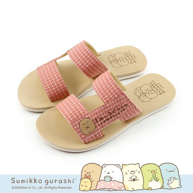 【Paidal】角落小夥伴 日系格紋H型鞋面拖鞋涼鞋(炸豬排)