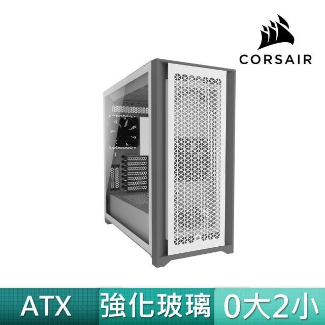【CORSAIR 海盜船】5000D AIRFLOW 白玻璃(贈 SP120 RGB ELITE白風扇x3+控制器)