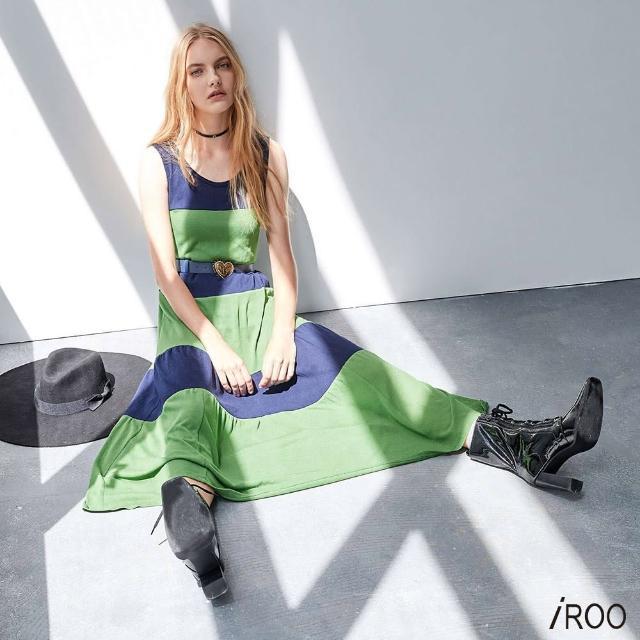 【iROO】無袖針織連身洋裝