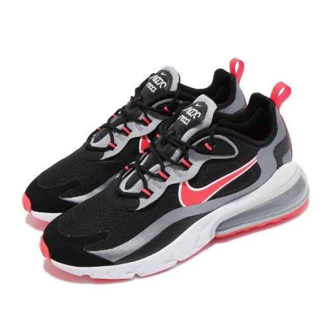 【NIKE 耐吉】休閒鞋 Air Max 270 React 男鞋 海外限定 氣墊 舒適 避震 球鞋 穿搭 黑 紅(CT1646-001)