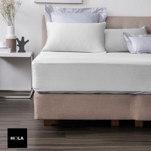 【HOLA】snow touch 涼感床包枕套組單人-銀河灰
