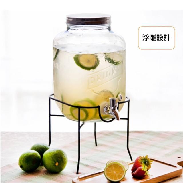 【Just Home】玻璃飲料桶 果汁桶 飲料桶玻璃 玻璃派對飲料桶 果汁桶 泡酒瓶
