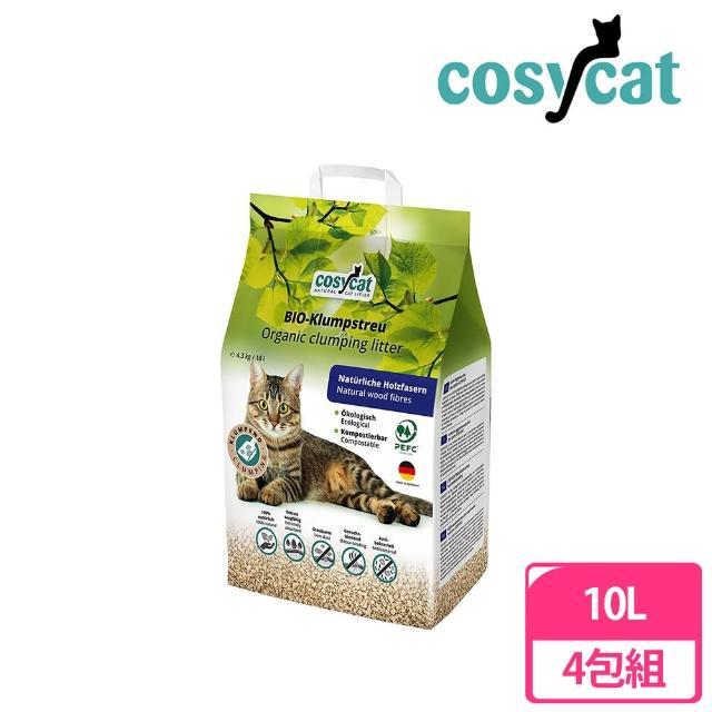 【cosycat】德國渴璽環保凝結木屑砂10L(4包組)