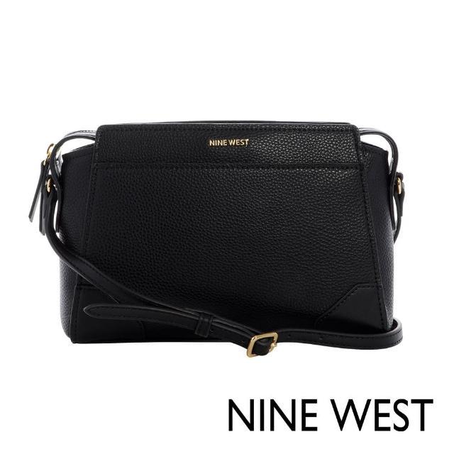 【NINE WEST】BROOKLYN知性簡約設計款斜背/單肩包-黑色(108570)