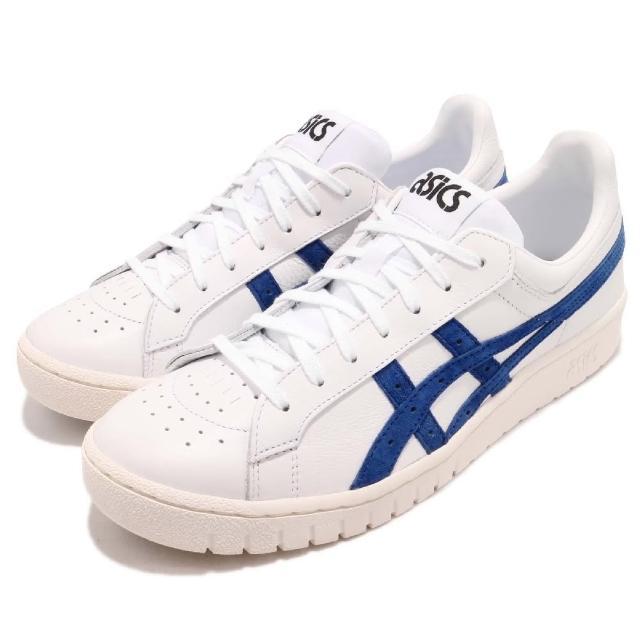 【asics 亞瑟士】休閒鞋 Gel-PTG 復古 男女鞋 亞瑟士 皮革鞋面 基本款 穿搭推薦 白 藍(HL7X0100)