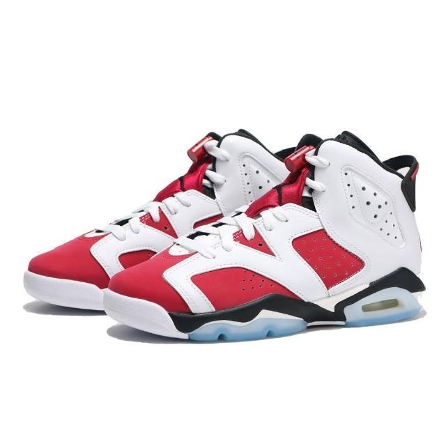 【NIKE 耐吉】籃球鞋 AIR JORDAN 6 RETRO CARMINE GS 六代 胭脂紅 復刻 經典 女(384665-106)