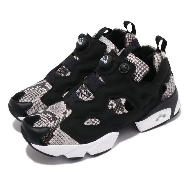 【REEBOK】休閒鞋 Instapump Fury OG 男女鞋 海外限定 襪套 充氣科技 蛇紋 情侶穿搭 黑褐(GY2759)