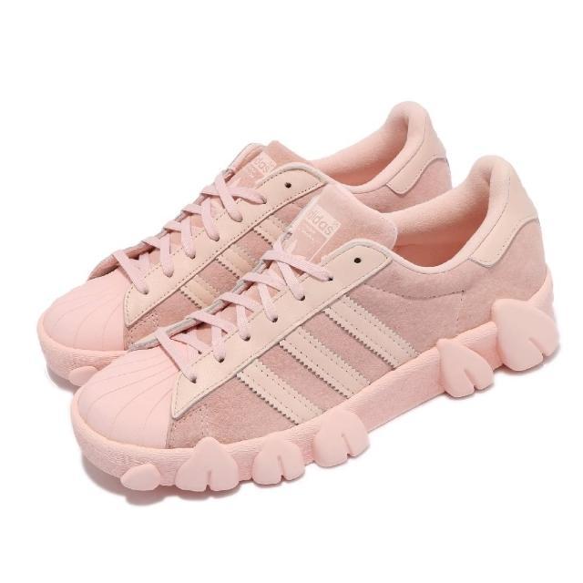 【adidas 愛迪達】休閒鞋 Superstar80s AC 女鞋 海外限定 貝殼頭 牙齒造型 簡約 穿搭 粉(FY5351)