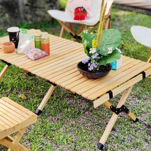 【May shop】戶外折疊桌蛋捲桌 便攜折疊桌