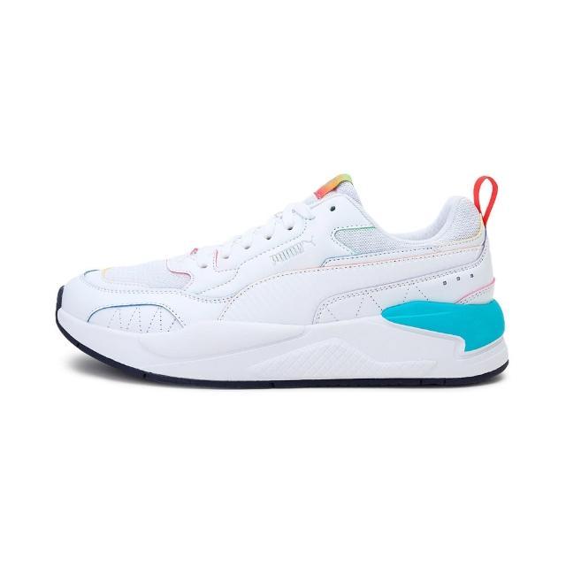 【PUMA】慢跑鞋 男鞋 女鞋 運動鞋 緩震 訓練 X-RAY2 SQUARE RAINBOW 白 36885601