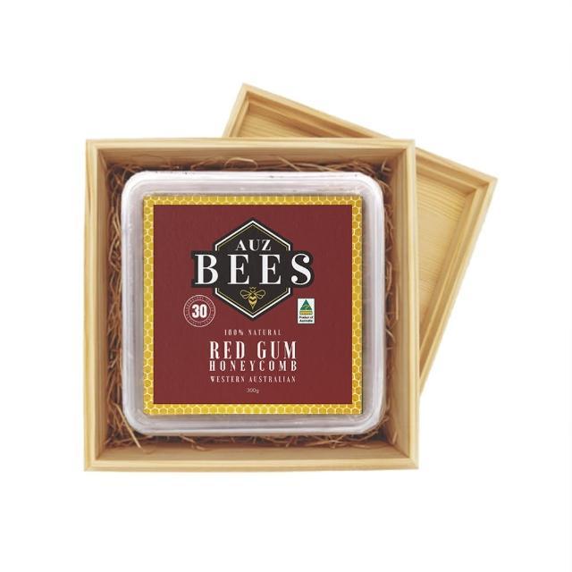 【Auz bees 澳蜜工坊】赤桉蜂巢蜜禮盒TA30 300克(100%西澳天然蜂蜜)