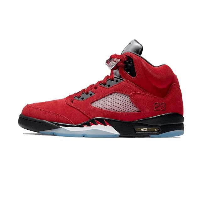 【NIKE 耐吉】Air Jordan 5 Raging Bull Red 復刻 籃球鞋 5代 2021 黑紅公牛 DD0587-600(AJ5 喬丹 公牛)
