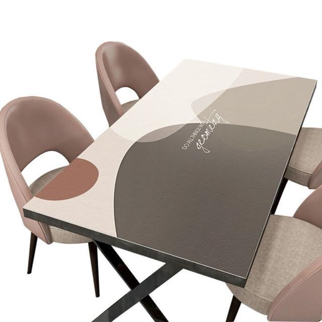 【JEN】北歐風可剪裁皮革免洗茶几墊桌巾餐桌墊80*130cm(莫蘭迪)