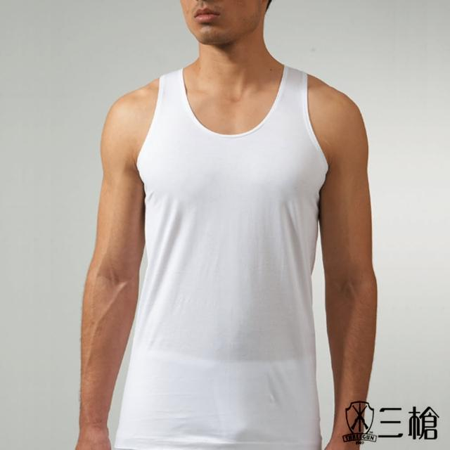 【三槍牌】時尚型男純棉短袖汗布背心(白 6件組)