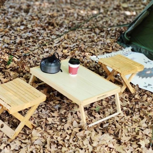【May shop】木制框架折桌简易床上桌☆外野餐折桌