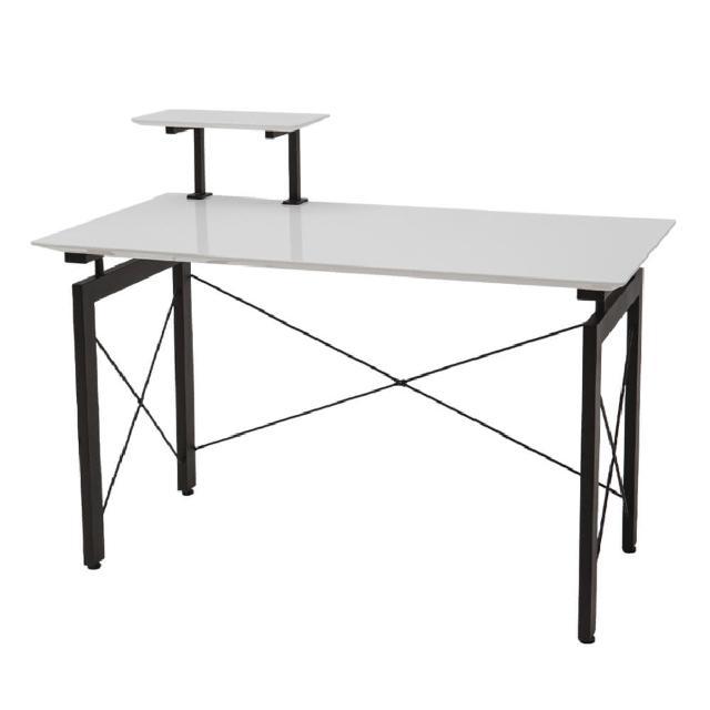 【PEACHY LIFE 完美主義】工業風質感簡約鏡面書桌/工作桌/電腦桌(二色可選)