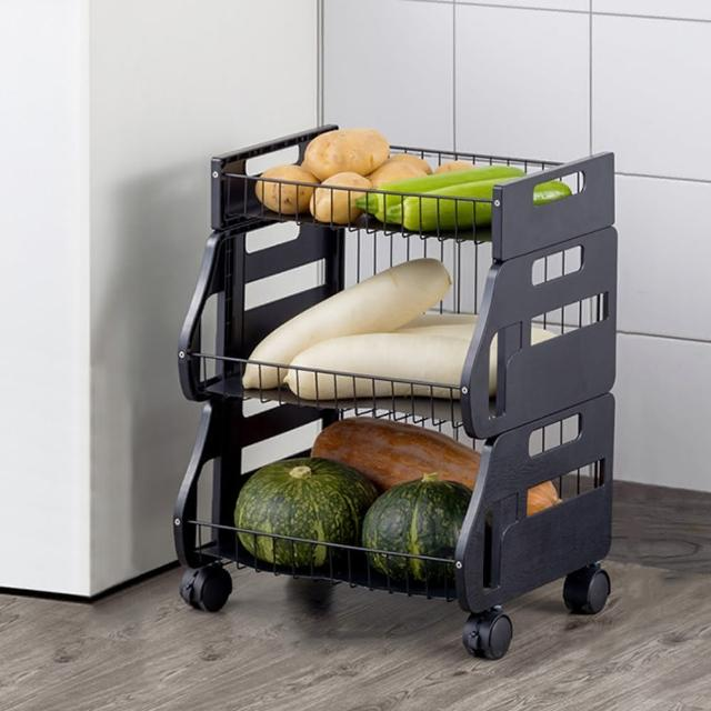 【HappyLife】可移動廚房收納車 二層 可拆用 Y10167(收納架 瓶罐收納 收納車 附輪收納車 置物架 廚房收納)