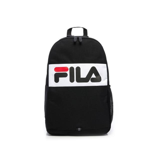 【FILA】後背包 撞色拼接LOGO後背包-黑(BPV-5502-BK)