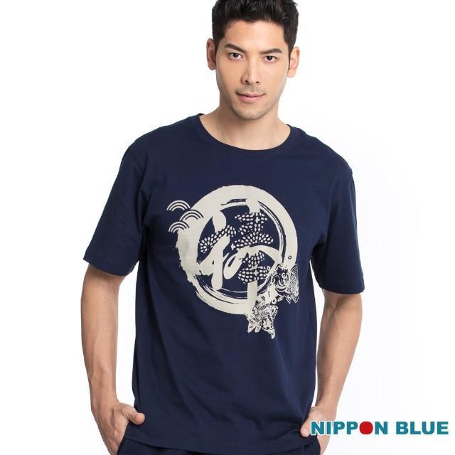 【BLUE WAY】棒系列達摩金魚短TEE-日本藍