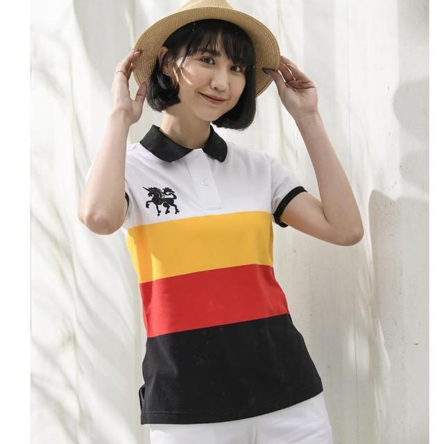 【LEIDOOE】CVC四色條紋女短POLO衫(16877)