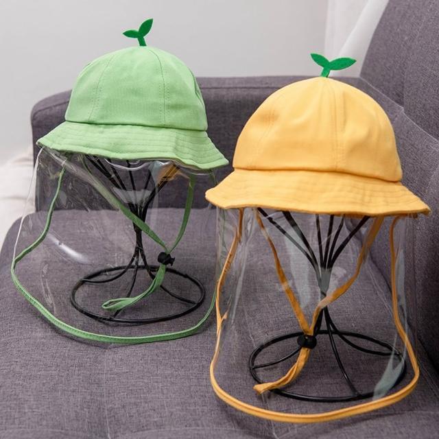 【Kori Deer 可莉鹿】可拆卸童趣豆芽嬰兒童防疫防飛沫帽漁夫帽(防風繩男女童寶寶帽防曬盆帽遮陽帽)