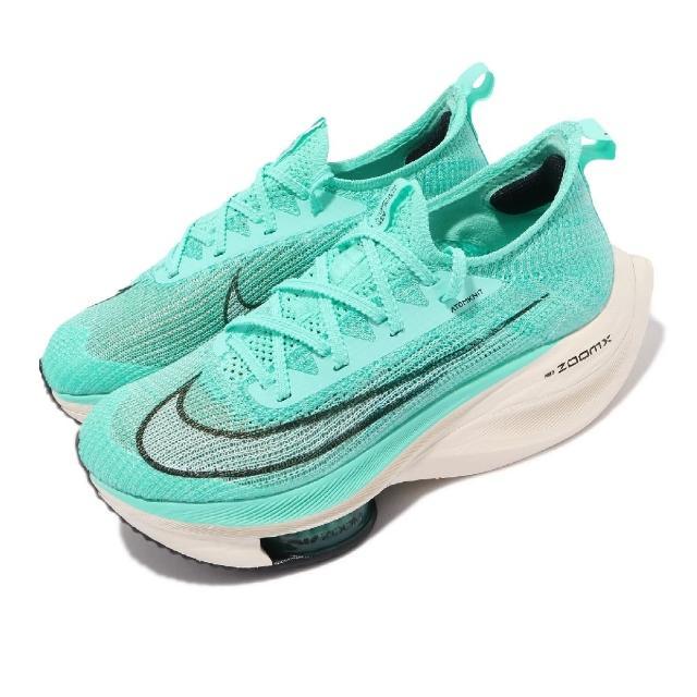 【NIKE 耐吉】慢跑鞋 Zoom Alphafly Next% 女鞋 氣墊 舒適 避震 路跑 馬拉松 球鞋 綠 白(CZ1514-300)