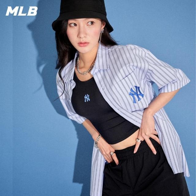 【MLB】五分袖襯衫 直條紋 PRIDE TAG系列 紐約洋基隊(31WSU4131-50S)