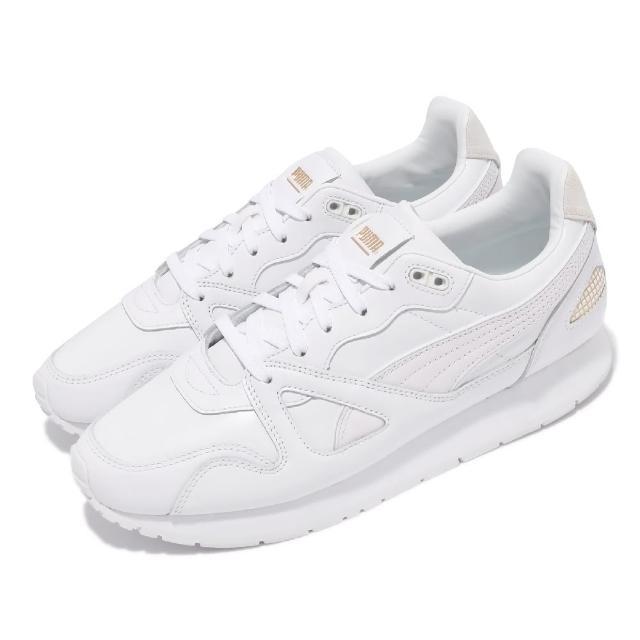 【PUMA】休閒鞋 Mirage OG Suit 男女鞋 海外限定 皮革鞋面 復刻 情侶鞋 白 金(38252201)