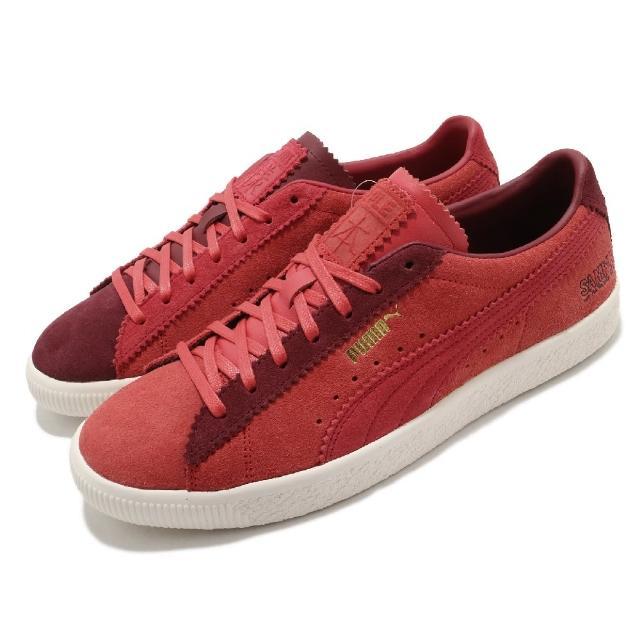 【PUMA】休閒鞋 Suede VTG 麂皮 雙色 男鞋 Michael Lau聯名 樣本 穿搭 紅 淺褐(38082001)