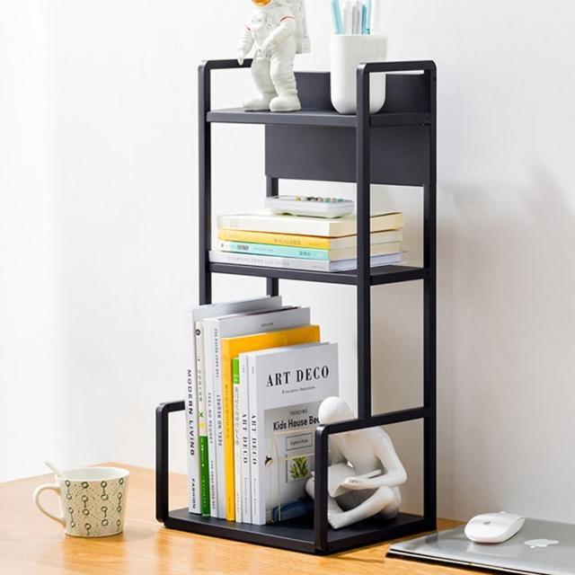 【HappyLife】H型桌面置物架 三層30cm Y10173(桌上整理架 檯面整理架 花架 廚房收納架 書架)