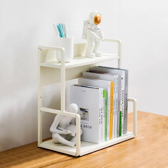 【HappyLife】H型桌面置物架 兩層40cm Y10176(桌上整理架 檯面整理架 花架 廚房收納架 書架)