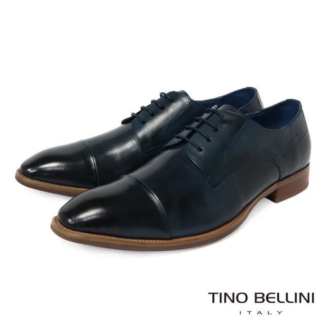 【TINO BELLINI 貝里尼】男款 沉穩藍調牛皮繫帶紳士鞋H2O0011-4