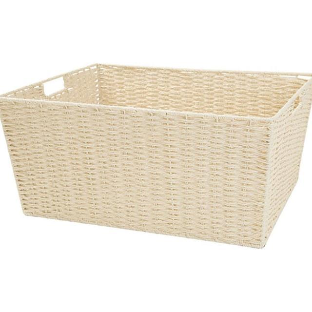 【NITORI 宜得利家居】編織收納籃 LAIRA3 標準大型 NA53(收納籃 收納盒 整理盒)