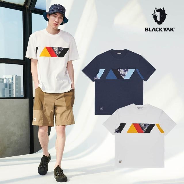 【BLACK YAK】bcc GARLAND短袖上衣[海軍藍/白色]BYAB1NC504(韓國春夏 短袖 中性款 上衣)