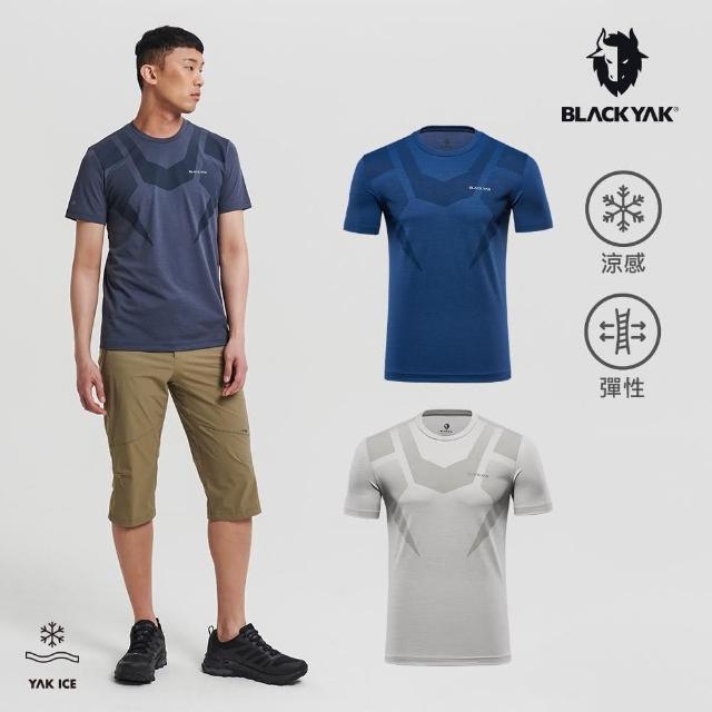【BLACK YAK】男 DRAKE涼感短袖上衣[藍灰色/藍色/灰褐色]BYAB1MC509(韓國春夏 短袖 男上衣)