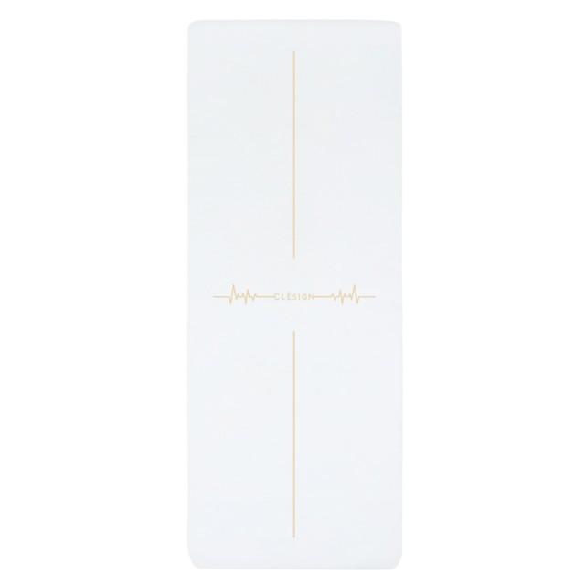【Clesign】全球限量款 Follow The Heartbeat Mat 瑜珈墊 4.5mm - White(瑜珈墊)