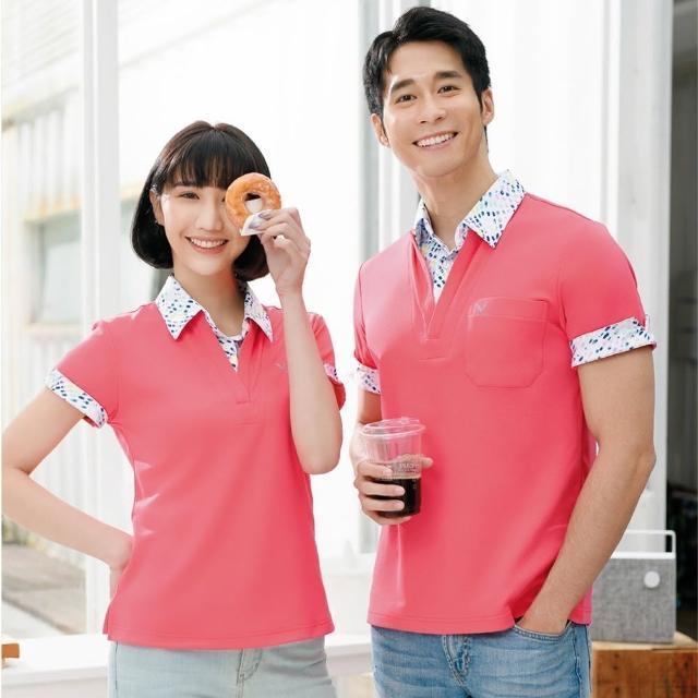 【LEIDOOE】假兩件式時尚休閒女短POLO衫(16870橘紅)