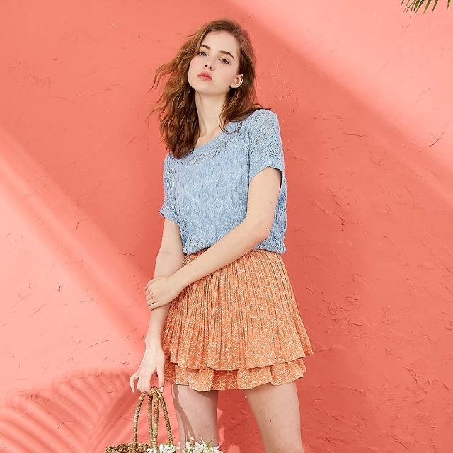 【CUMAR】清透優雅女短袖-針織衫(三色/魅力商品/版型寬鬆)