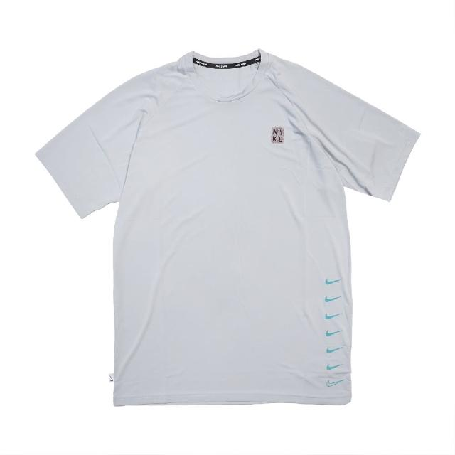 【NIKE 耐吉】T恤 Multi Swoosh Top 圓領 男款 防曬 運動休閒 基本款 穿搭推薦 灰 黑(NESSB653-079)
