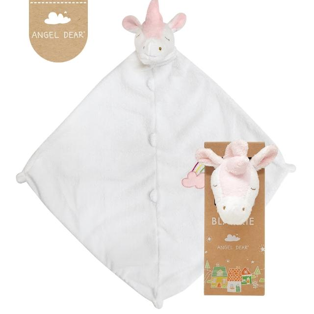【Angel Dear】動物嬰兒安撫巾禮盒(彩虹獨角獸)
