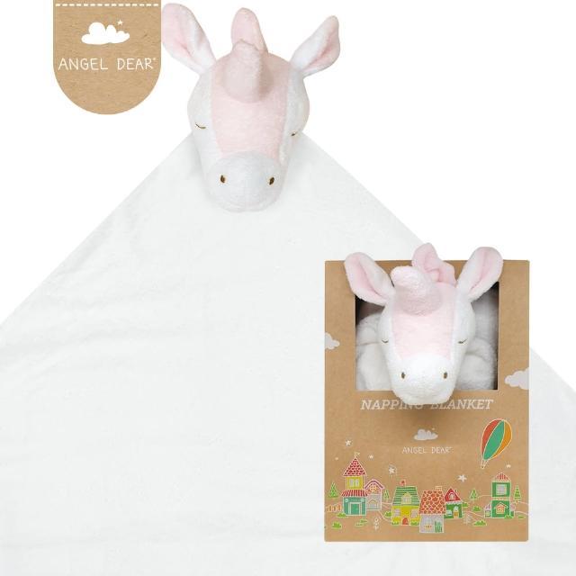 【Angel Dear】大頭動物嬰兒毛毯禮盒(彩虹獨角獸)