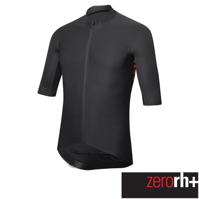 【ZeroRH+】義大利AERO系列男仕專業自行車衣(黑色 ECU0773_900)
