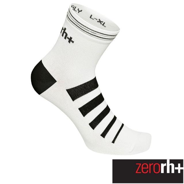 【ZeroRH+】專業中筒單車運動襪(白色 ECX9163_009)