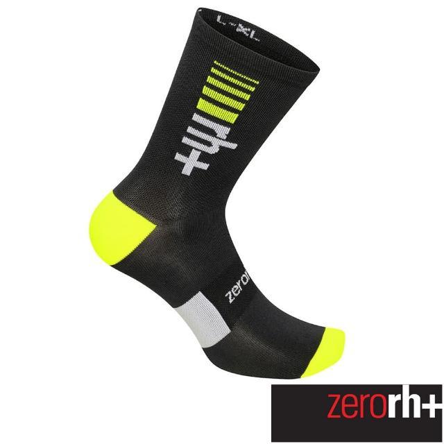 【ZeroRH+】義大利專業中筒單車運動襪(螢光黃 ECX9164_94G)