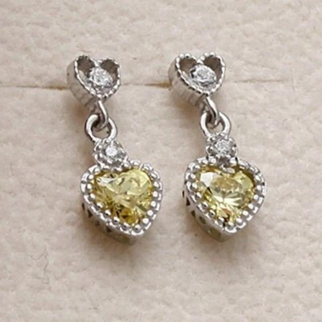 【米蘭精品】925純銀耳環鑲鑽耳飾(閃耀迷人愛心造型情人節生日禮物女飾品73dm53)