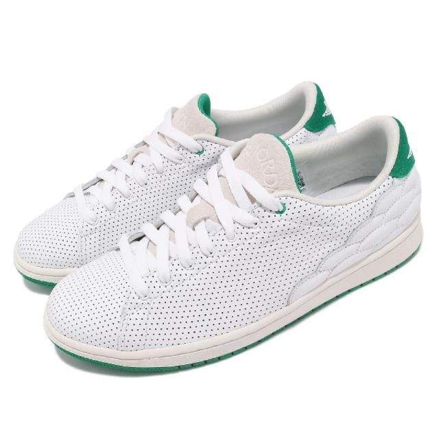 【NIKE 耐吉】休閒鞋 Air Jordan 1 運動 男鞋 喬丹 皮革 質感 麂皮 球鞋 穿搭 白 綠(DJ2756-113)