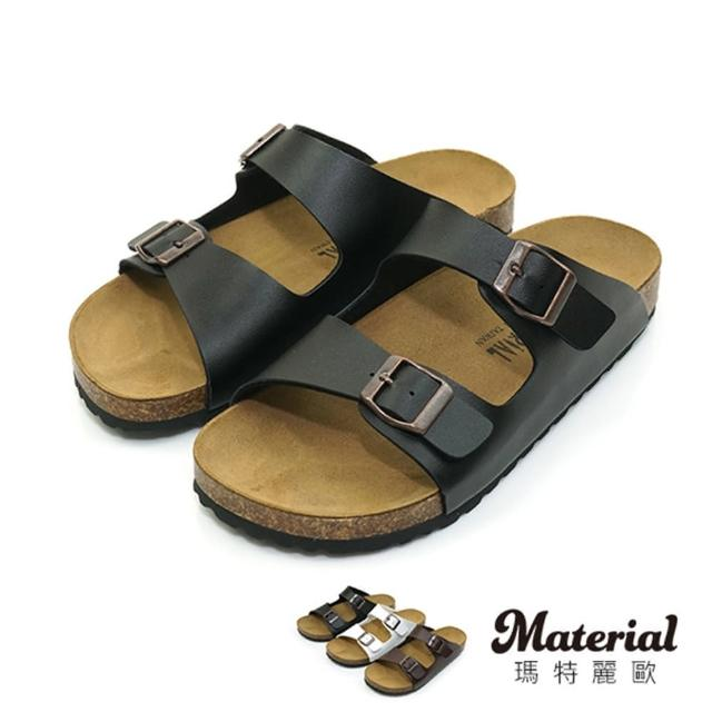 【MATERIAL】男鞋 二扣真皮墊拖鞋 MA女鞋 T27670(拖鞋)